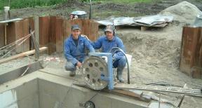 Draadzagen met beton draadzaagsysteem 01