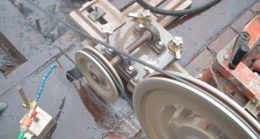 Draadzagen met beton draadzaagsysteem 03