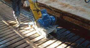 Opruwtechniek opruwen betonvloeren en betonroosters 03