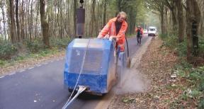 Zagen asfaltzagen 03