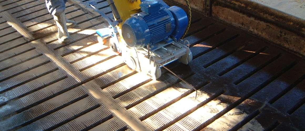Opruwen beton in stal - Betonboor- en Zaagbedrijf K. Wijma BV Drachten